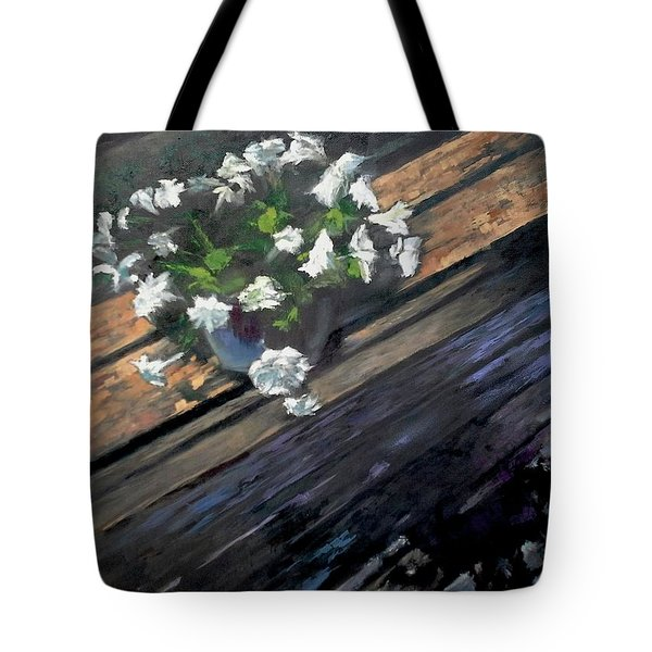 Deck Flowers #1 Tote Bag by Brian Kardell