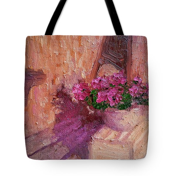 Deck Flowers #2 Tote Bag by Brian Kardell