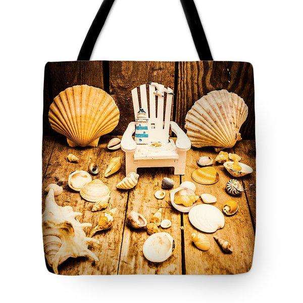 Deckchairs And Seashells Tote Bag