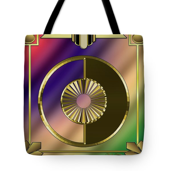 Tote Bag featuring the digital art Deco 27 - Chuck Staley by Chuck Staley