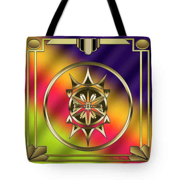 Tote Bag featuring the digital art Deco 28 by Chuck Staley