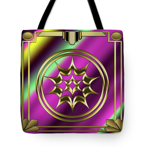 Tote Bag featuring the digital art Deco 29 by Chuck Staley