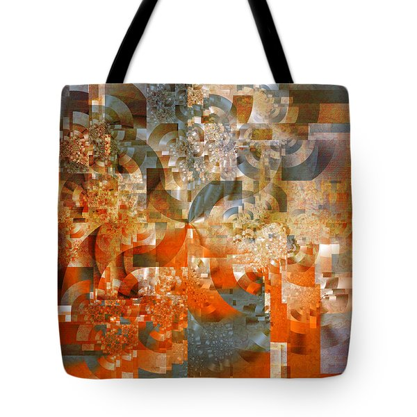 Tote Bag featuring the digital art Deco Bubbles by Richard Ortolano