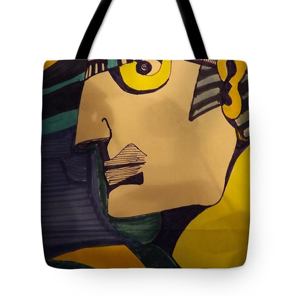 Tote Bag featuring the painting Decoman  Shadow  by Don Koester