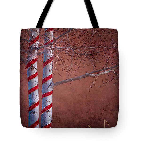 Decorated Aspens Tote Bag
