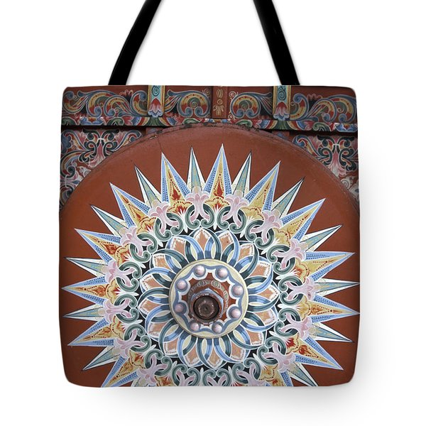 Decorated Oxcart Wheel Costa Rica Tote Bag