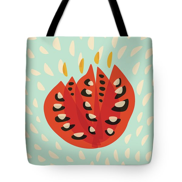 Decorative Beautiful Abstract Tulip Tote Bag