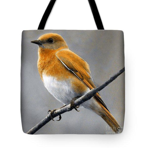 Tote Bag featuring the mixed media Decorative Bird Mixed Media E11817 by Mas Art Studio