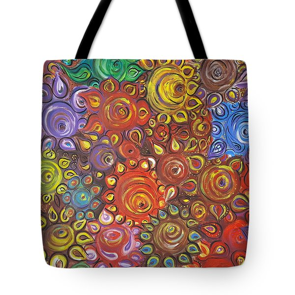 Decorative Flowers Tote Bag by Rita Fetisov