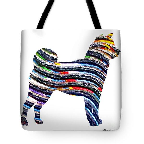 Decorative Husky Abstract O1015b Tote Bag