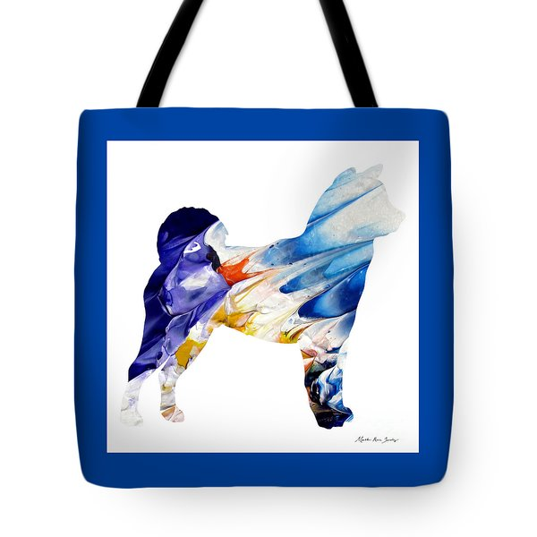 Decorative Husky Abstract O1015c Tote Bag