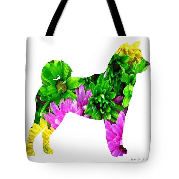 Decorative Husky Abstract O1015d Tote Bag