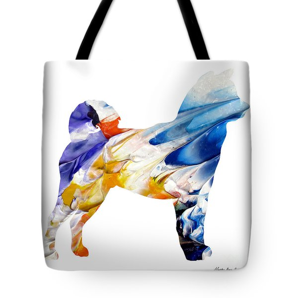Decorative Husky Abstract O1015e Tote Bag