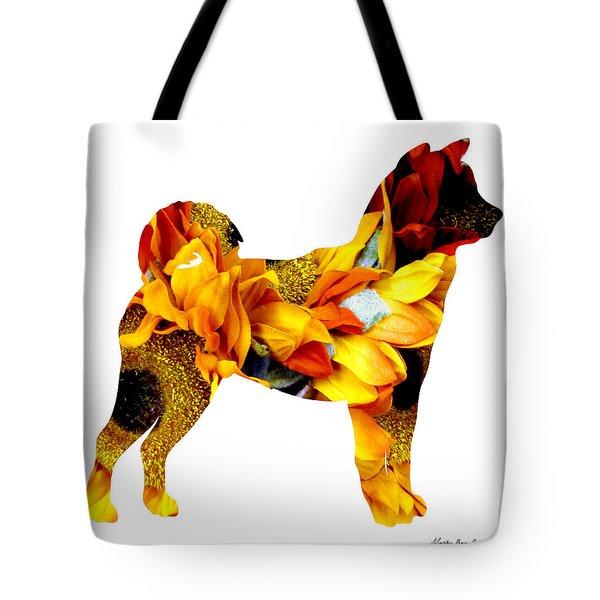 Decorative Husky Abstract O1015g Tote Bag