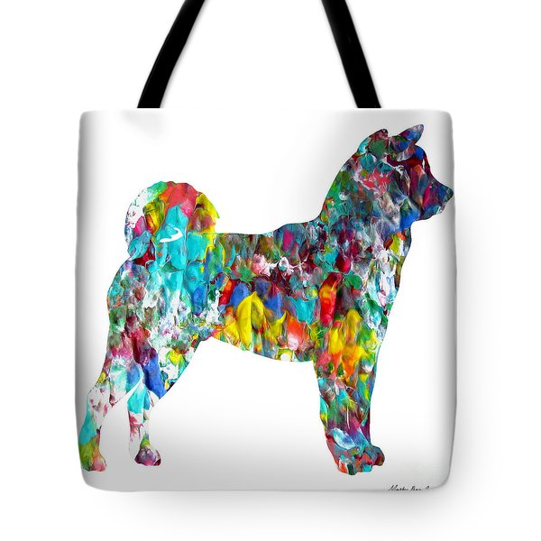 Decorative Husky Abstract O1015h Tote Bag