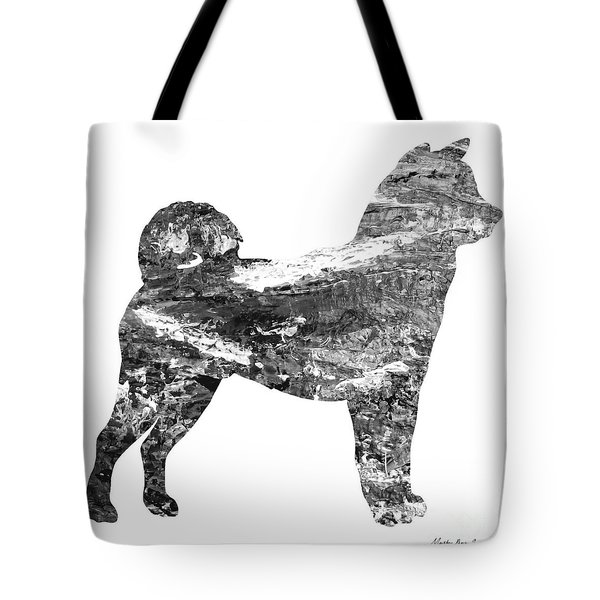 Decorative Husky Abstract O1015j Tote Bag