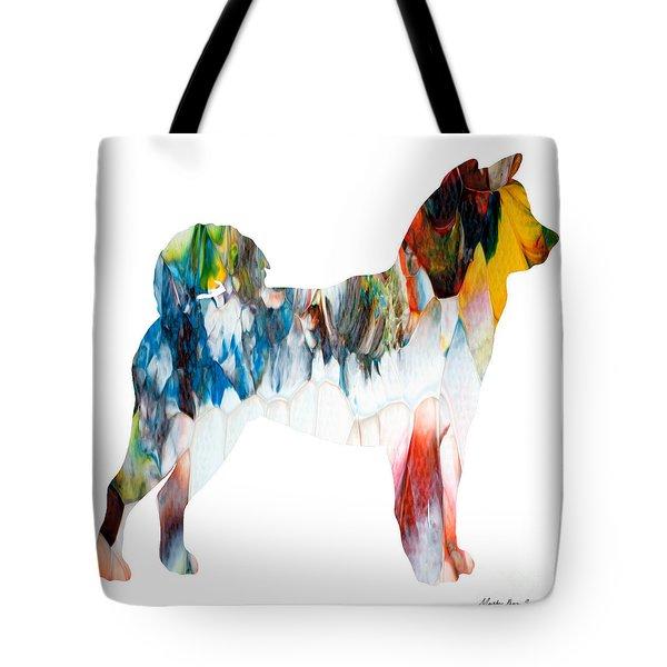 Decorative Husky Abstract O1015l Tote Bag