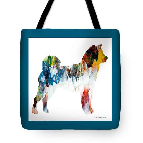 Decorative Husky Abstract O1015l Tote Bag
