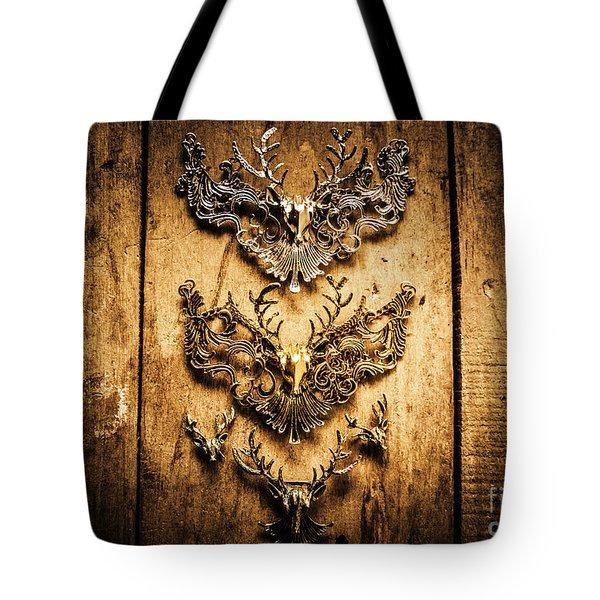 Decorative Moose Emblems Tote Bag