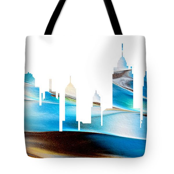 Decorative Skyline Abstract New York P1015a Tote Bag