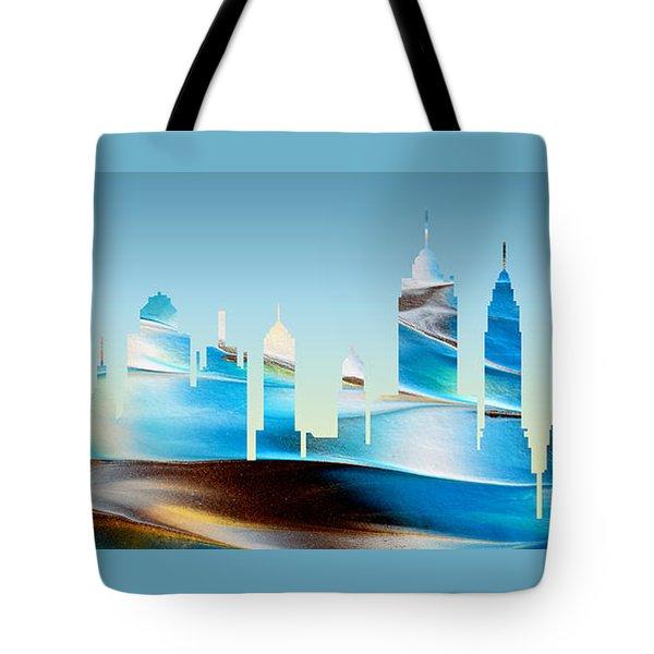 Decorative Skyline Abstract New York P1015b Tote Bag
