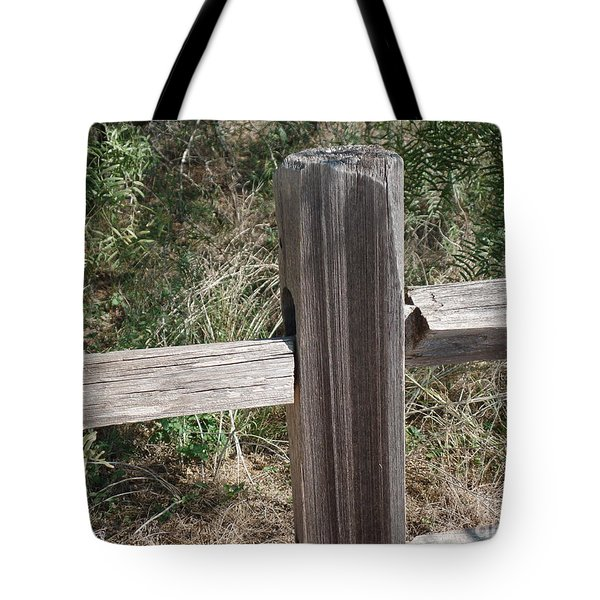 Tote Bag featuring the photograph Decorative View - Central Texas Fence Line by Ray Shrewsberry