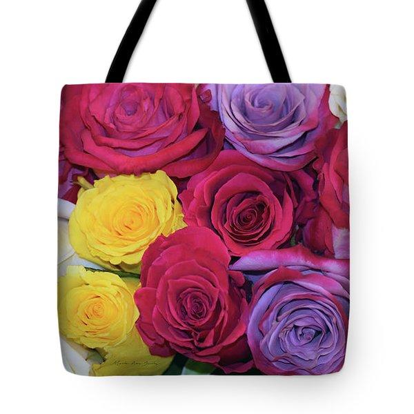 Decorative Wallart Brilliant Roses Photo B41217 Tote Bag