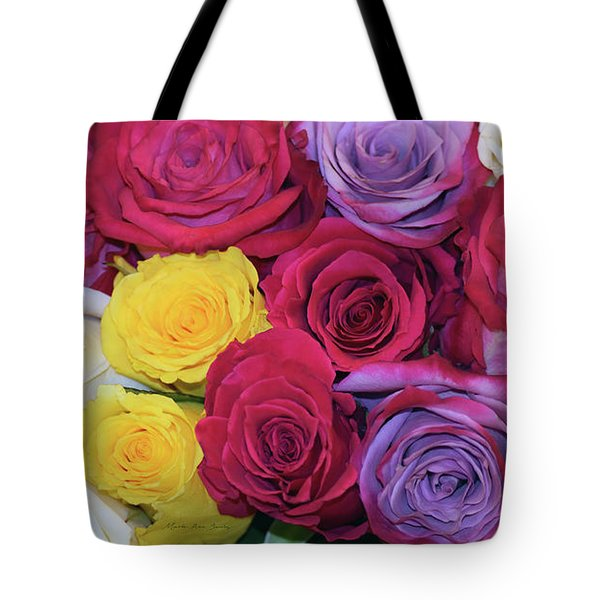 Decorative Wallart Brilliant Roses Photo B41217 Tote Bag