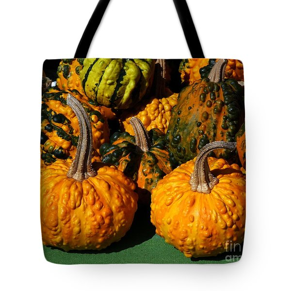 Decorative Warty Pumpkins Tote Bag