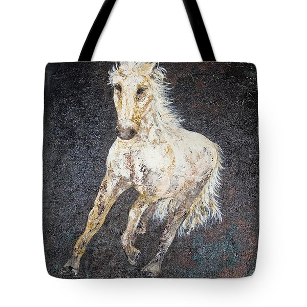 Tote Bag featuring the painting Dedicated by Piety Dsilva
