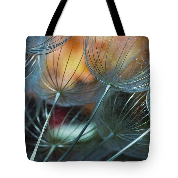 Deep Blue Dandelions Tote Bag