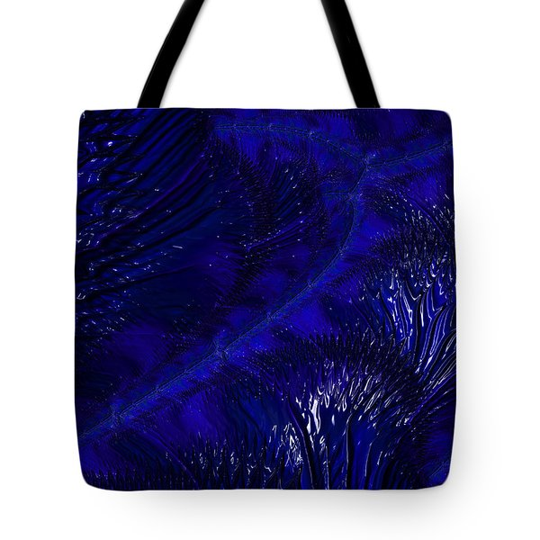 Tote Bag featuring the digital art Deep Blue by Michele A Loftus