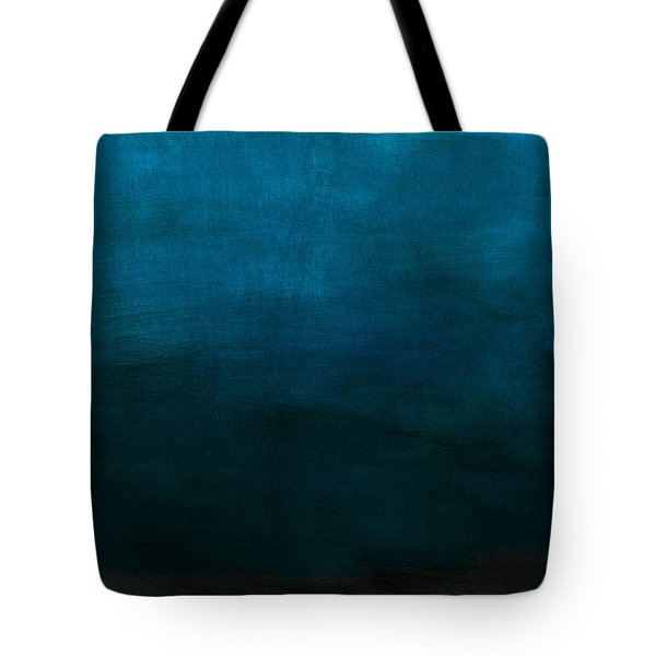 Deep Blue Mood- Abstract Art By Linda Woods Tote Bag