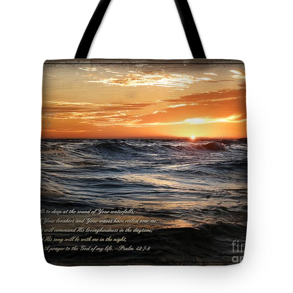 Deep Calls To Deep - Rustic Tote Bag