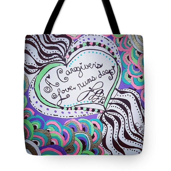 Tote Bag featuring the drawing Deep by Carole Brecht