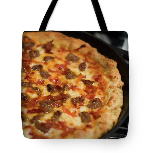 Tote Bag featuring the photograph Deep Dish Pizza 002 by Andee Design