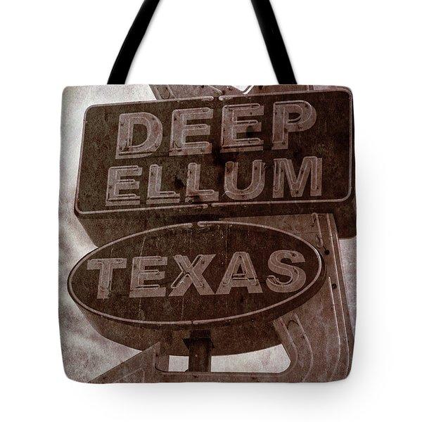 Deep Ellum Texas Tote Bag by Jonathan Davison