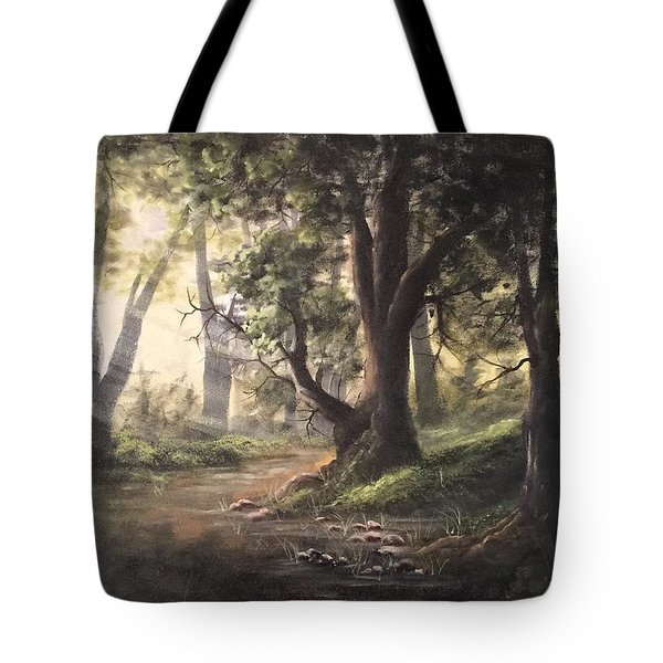 Deep Forest Rays  Tote Bag