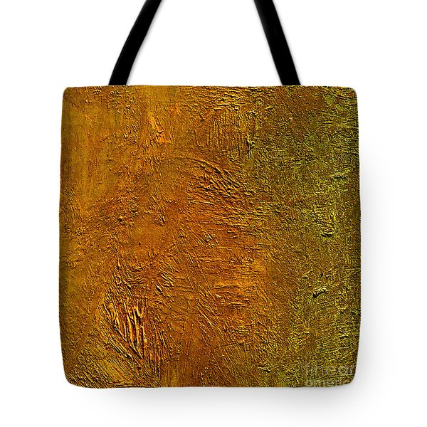 Tote Bag featuring the mixed media Deep Gold by Michael Rock