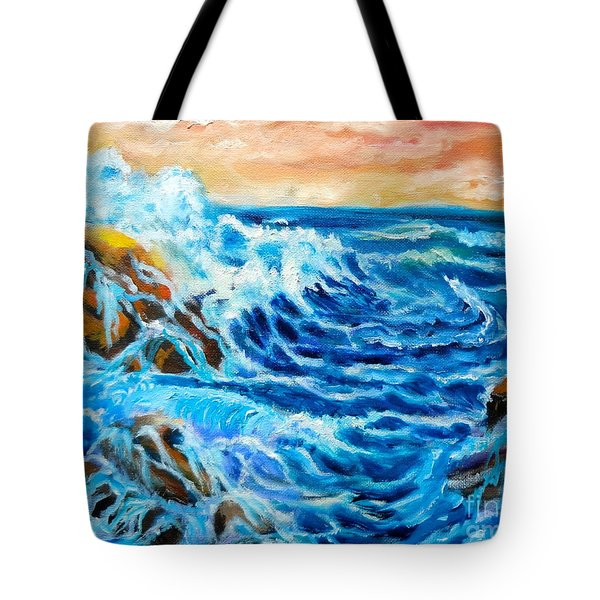 Tote Bag featuring the painting Deep by Jenny Lee