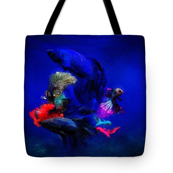Tote Bag featuring the painting Deep Oceans by Mark Taylor