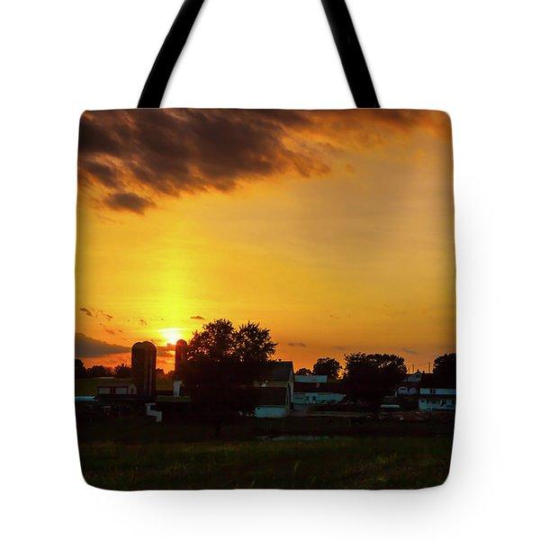 Deep Orange Farm Tote Bag