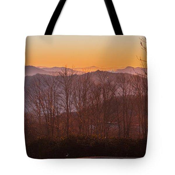 Deep Orange Sunrise Tote Bag