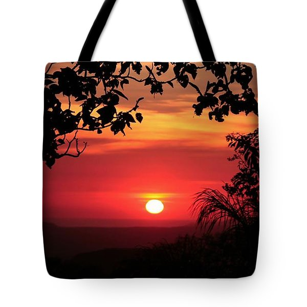 Tote Bag featuring the photograph Deep Orange Sunset by Ellen Barron O'Reilly