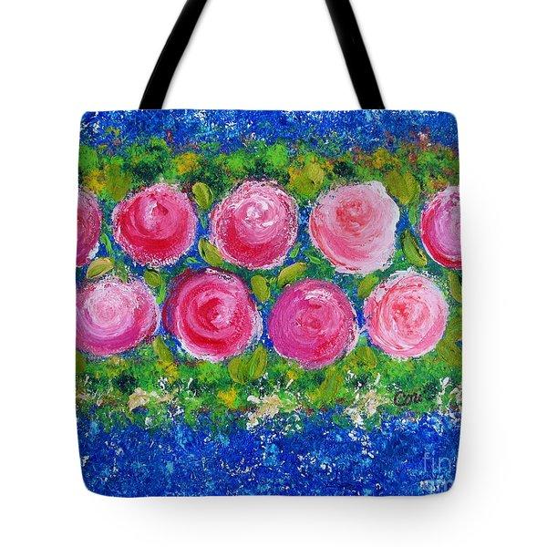 Deep Pink Flowers Tote Bag