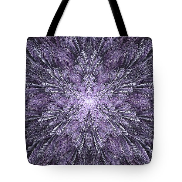 Tote Bag featuring the digital art Deep Purple Dreams by Linda Whiteside