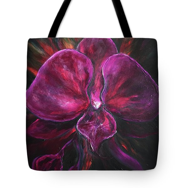 Deep Purple Orchid Tote Bag