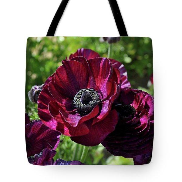 Deep Ranunculus Tote Bag