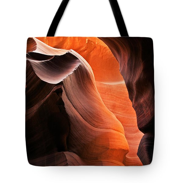 Deep Red Glow Tote Bag by Mike  Dawson