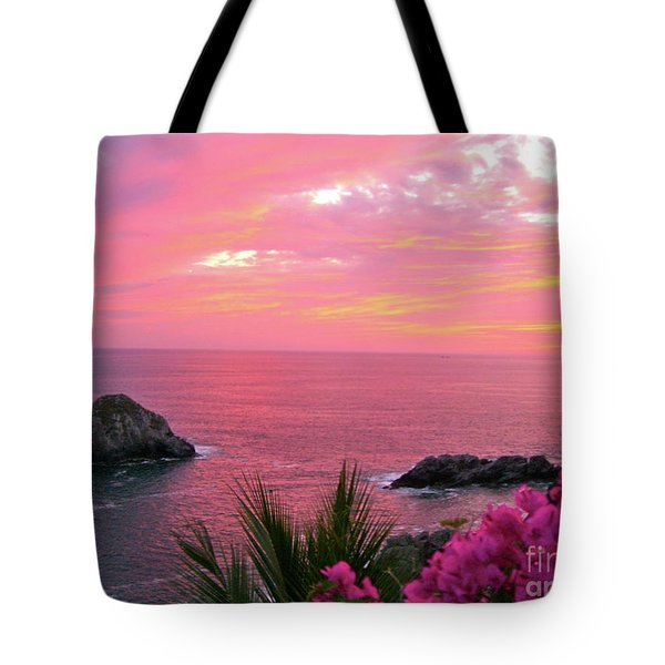 Deep Red Sea Tote Bag